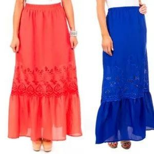 🆕️ 🕹CLEARANCE Coral Maxi Skirt